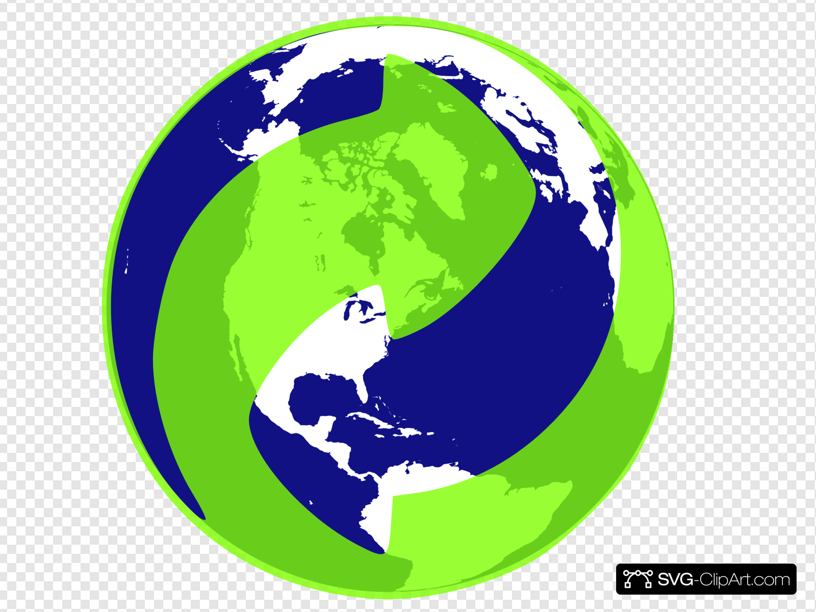 Recycle Earth Clip art, Icon and SVG.
