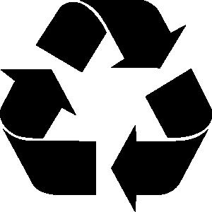 Recycling Symbol clip art.