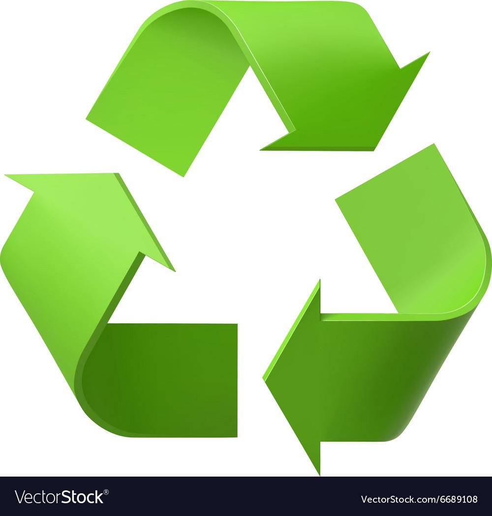 Recycle logo.