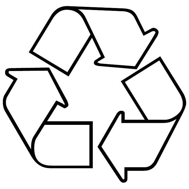 Recyclable vector eco symbol.