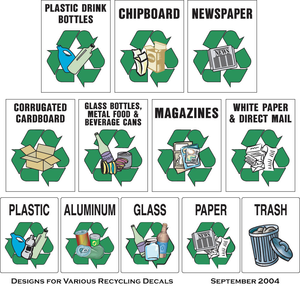 Mixed Paper Recycle Clipart.