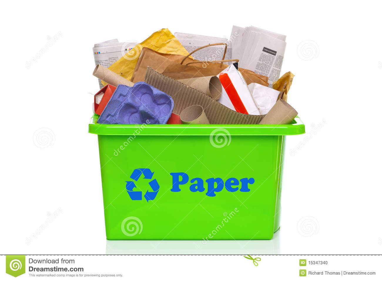 recycle paper clipart #8