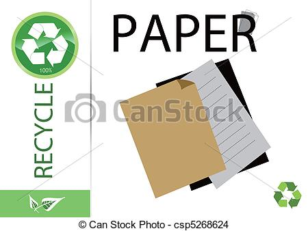 recycle paper clipart #7