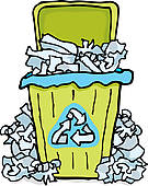 Recycling Paper Clip Art.