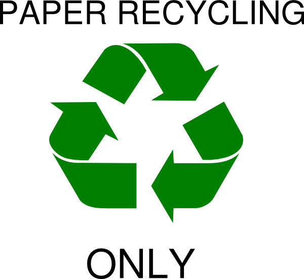 Paper Recycle Symbol Clip Art at Clker.com.