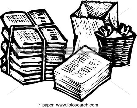 Clipart of Recycle Paper r_paper.