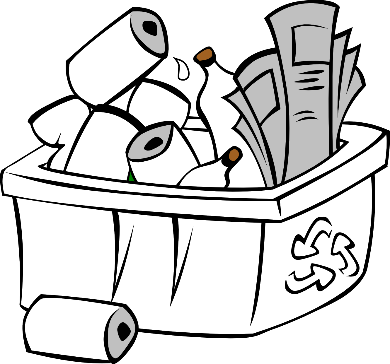 Recycle Clipart Black And White.