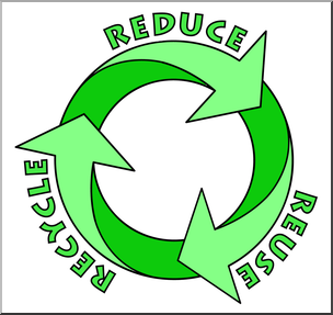 Clip Art: Reduce, Reuse, Recycle Logo 2 Color 2.