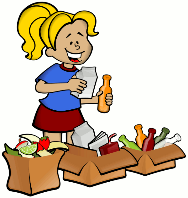 Boy recycling clipart.