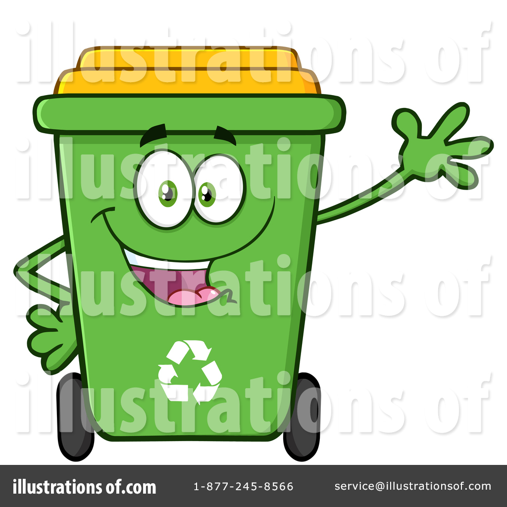Green Recycle Bin Clipart #1412363.