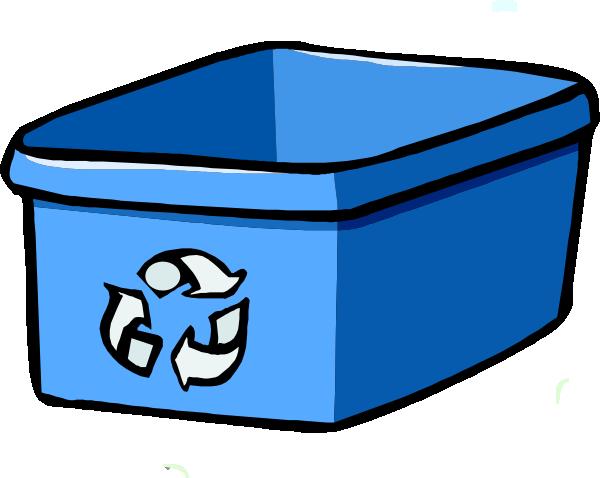 Recycle Bin Blue Clip Art at Clker.com.