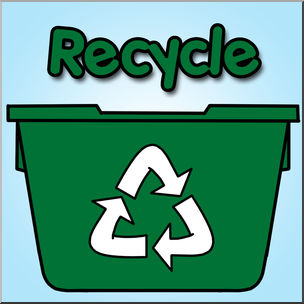 Recycle bin clipart.