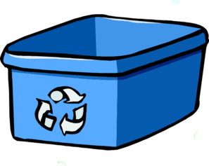 Recycle Bin Blue Clip Art at Clker.com.