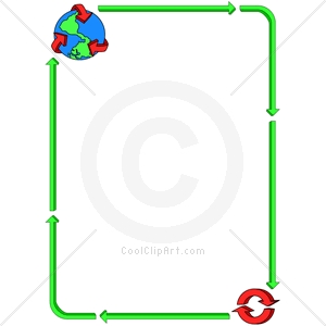 Recycle Border Clipart.