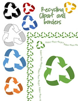 Recycling Clip Art and Border.