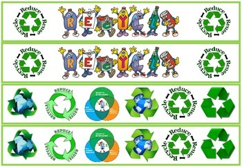 Recycle Bulletin Board/Display Board Border.