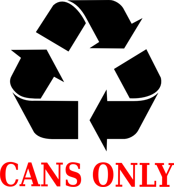Recycle Cans Only Clipart Free.