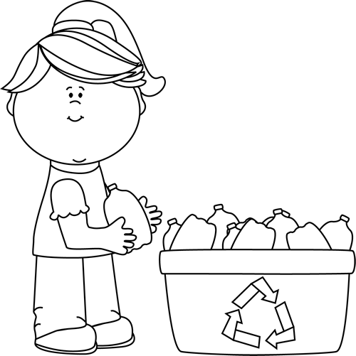 Recycle clipart black and white 5 » Clipart Station.