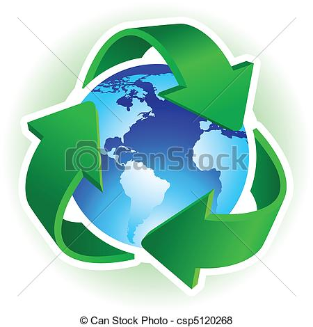 Vector of Recycle symbol.