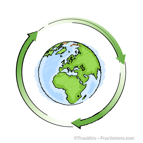 Recycling Earth, Clipart.