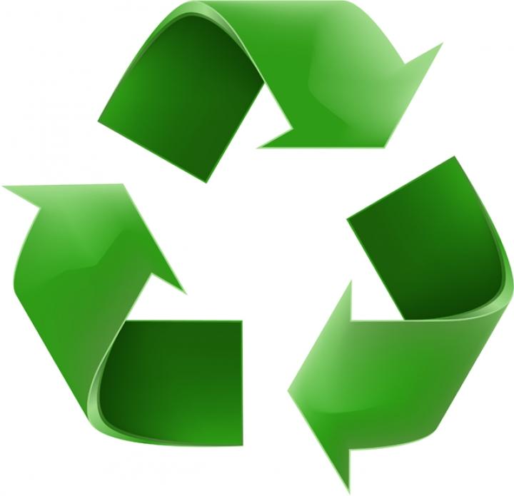 Recycling logo clip art.