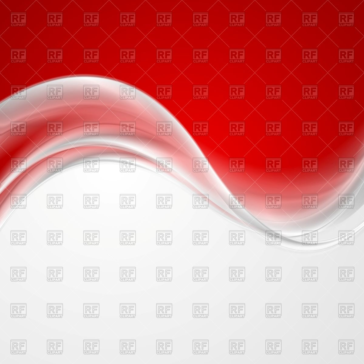 Abstract red and grey background with pearl wave Vector Image.