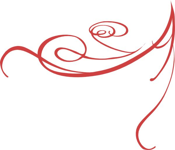 Red abstract clipart.