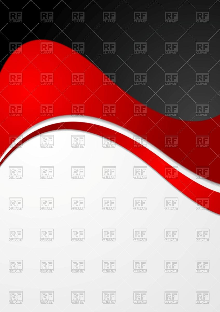 Black red abstract clipart.