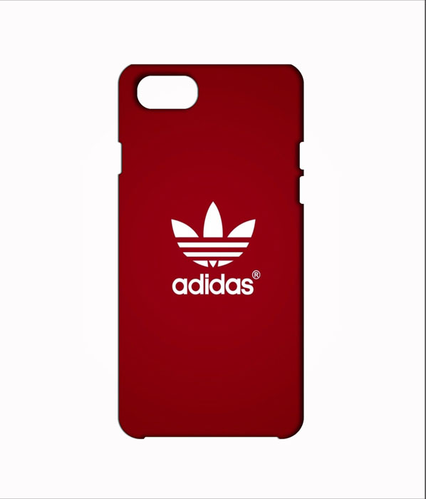 Iphone 7 Red Adidas Logo Mobile Case.