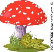 Amanita mushroom Clip Art Royalty Free. 551 amanita mushroom.