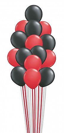 Send 16( Balloons loose) Red & Black Balloons online in UAE.