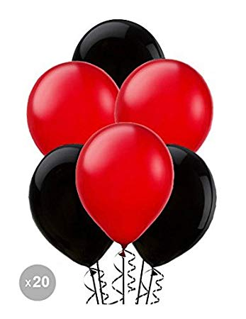 Red and black balloons (x20).