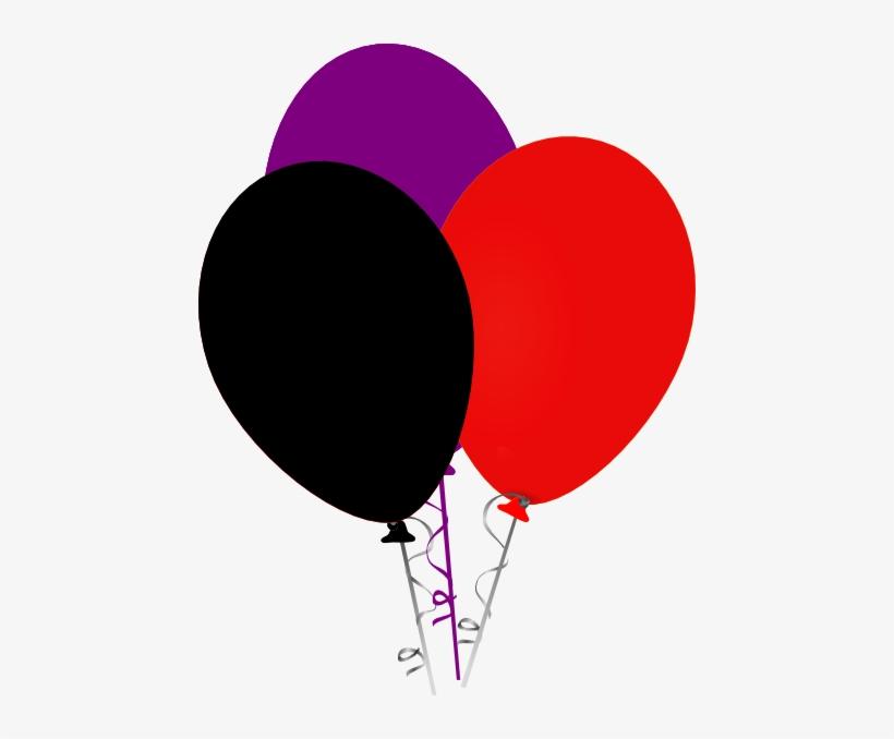 Pink Clipart Black Balloon.