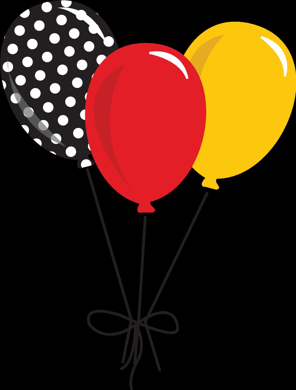 balloons polkadots red yellow black png clipart.