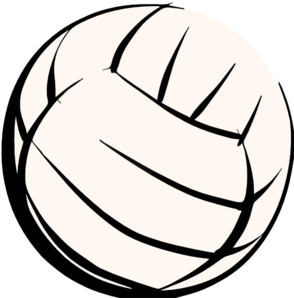 Red and black volleyball clipart.