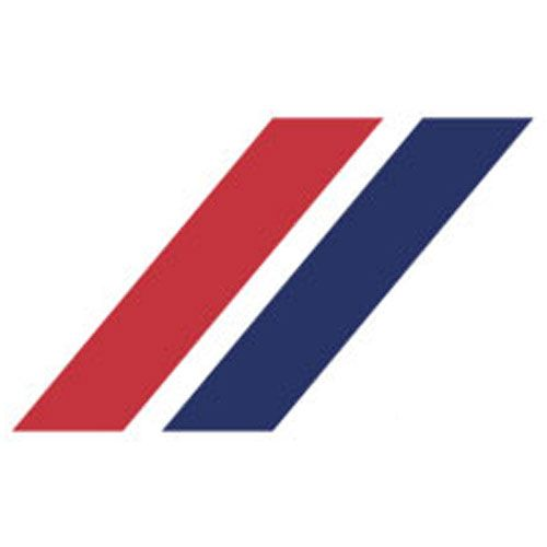 Blue and Red Stripe Logo.