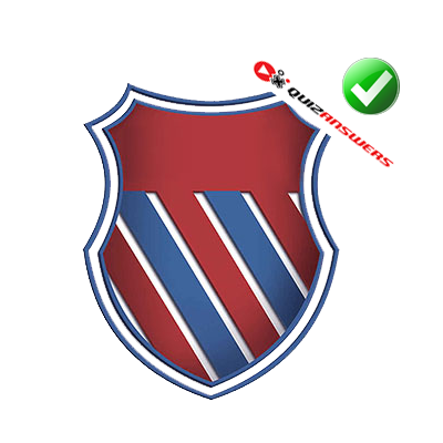 Red and blue stripe Logos.