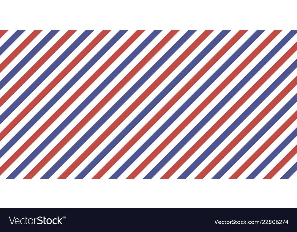 Classic retro background diagonal stripes red blue.