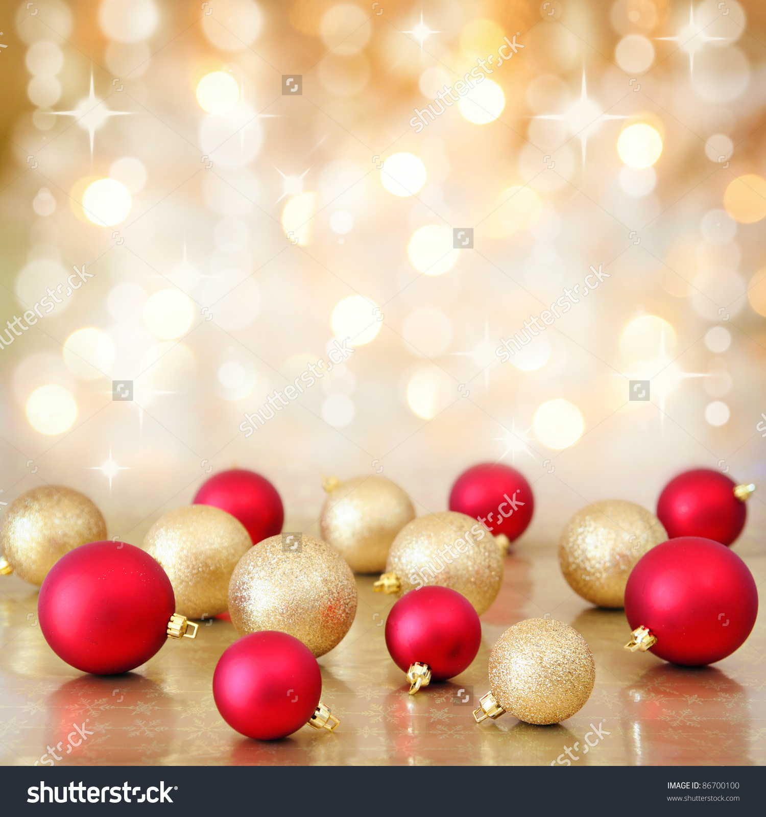 Red And Gold Christmas Lights Clipart.