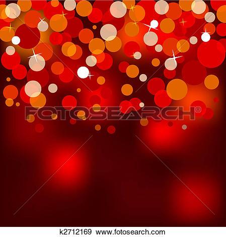 Stock Illustration of red christmas lights k2712169.