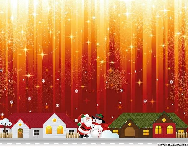 red and gold christmas lights clipart #5