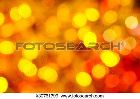 Stock Photograph of yellow and red flickering Christmas lights.