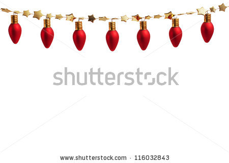 Gold Christmas Lights Stock Images, Royalty.