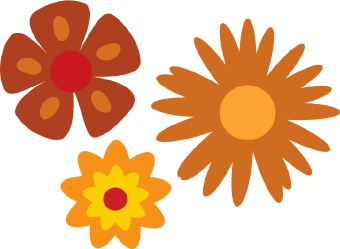 One Flower Petal Clipart.