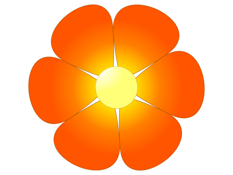 Orange Flower SVG Vector file, vector clip art svg file.