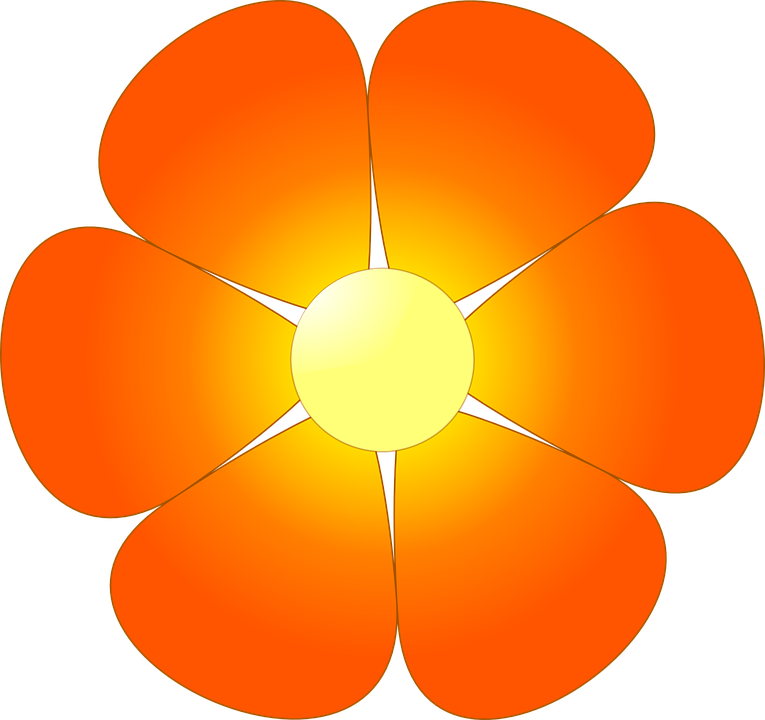 Free vector graphic: Flower, Abstracts, Orange, Petals.
