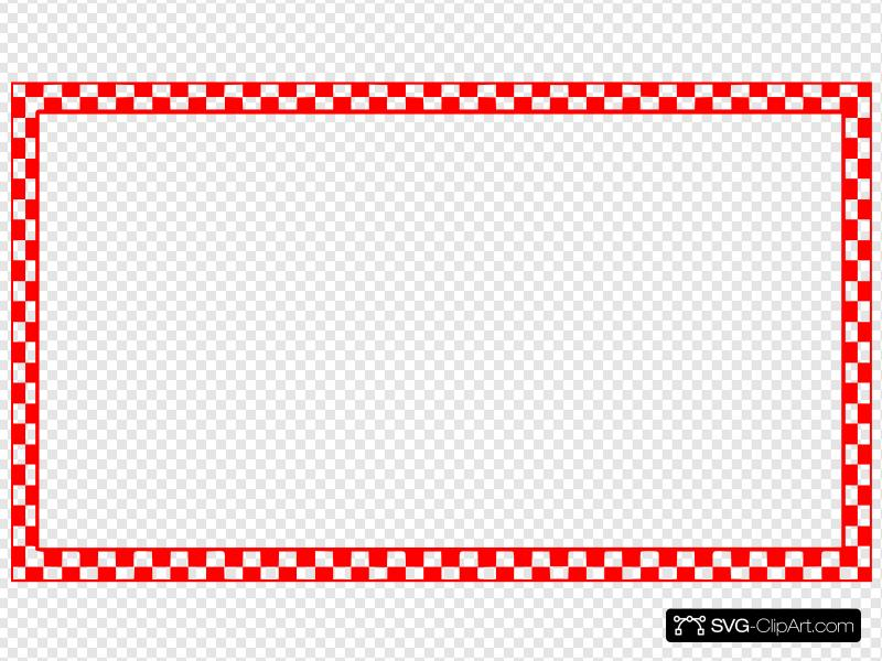 Red Checkered Border Clip art, Icon and SVG.