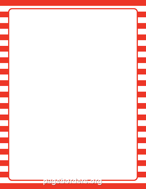 Red and White Striped Border: Clip Art, Page Border, and.