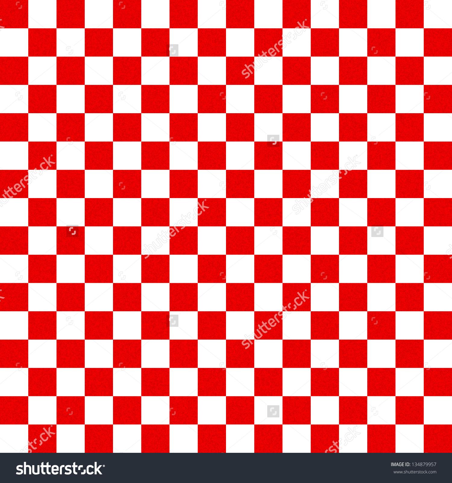 Red White Checkered Background Stock Illustration 134879957.