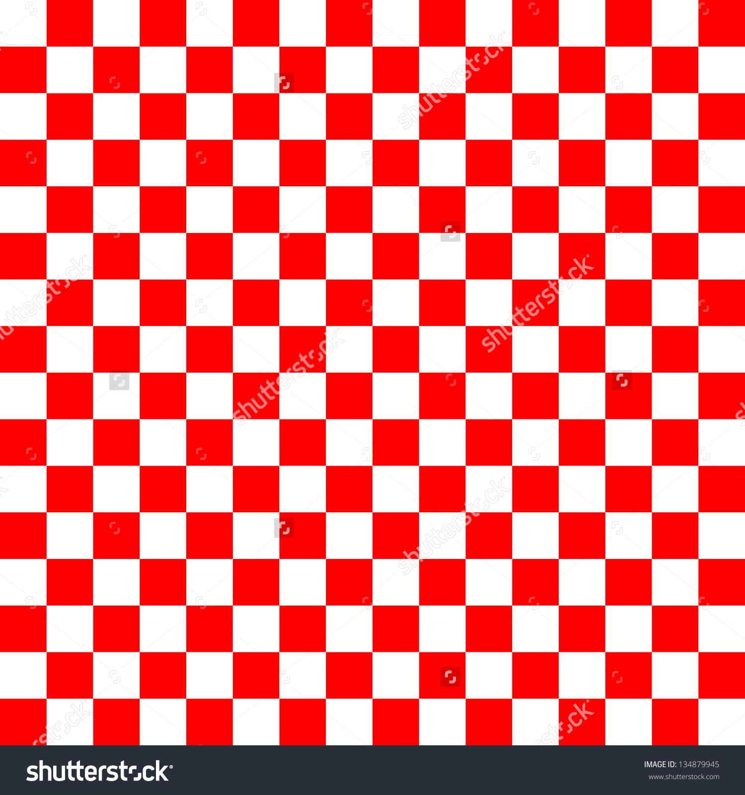 Red White Checkered Background Stock Illustration 134879945.